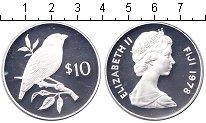Изображение Монеты Фиджи 10 долларов 1978 Серебро Proof- птица