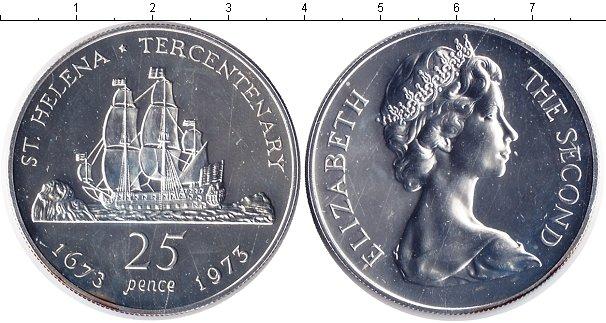 Картинка Монеты Остров Святой Елены 25 пенсов Серебро 1973