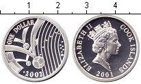 Изображение Монеты Острова Кука 1 доллар 2001 Серебро Proof- Елизавета II