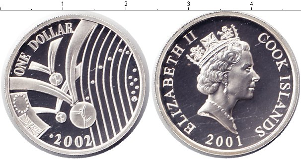 Картинка Монеты Острова Кука 1 доллар Серебро 2001