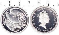 Изображение Монеты Великобритания 2 фунта 2005 Серебро Proof- Елизавета II. 60 лет