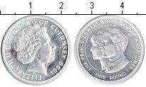 Изображение Монеты Великобритания Гернси 1 фунт 1999 Серебро UNC-