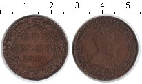 Изображение Монеты Канада 1 цент 1910 Медь VF Эдвард VII