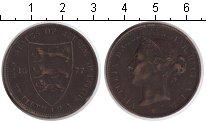 Изображение Монеты Остров Джерси 1/12 шиллинга 1877 Медь VF Виктория