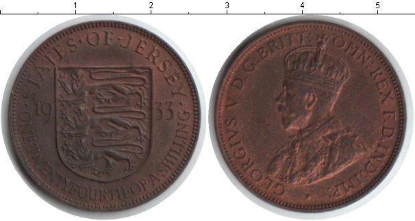 Картинка Монеты Остров Джерси 1/12 шиллинга Медь 1933