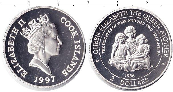 Картинка Монеты Острова Кука 1 доллар Серебро 1997