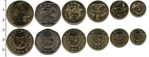 Изображение Наборы монет Кипр Кипр 2004 2004  UNC- В наборе 6 монет ном