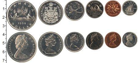 Изображение Наборы монет Канада Канада 1966 1966  UNC- В наборе 6 монет ном