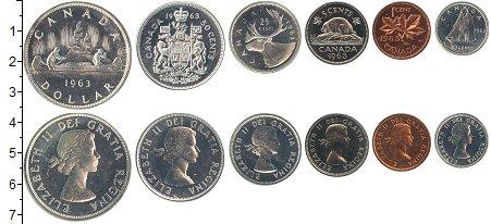 Изображение Наборы монет Канада Канада 1963 1963  UNC- В наборе 6 монет ном
