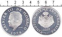 Изображение Монеты Монако 100 франков 1974 Серебро Proof-