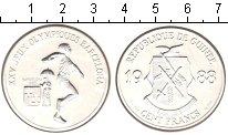 Изображение Монеты Гвинея 100 франков 1988 Серебро UNC-
