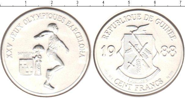 Картинка Монеты Гвинея 100 франков Серебро 1988