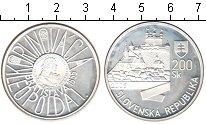 Изображение Монеты Словакия 200 крон 2004 Серебро Proof-