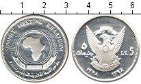 Изображение Монеты Судан 5 динар 1978 Серебро Proof- африка