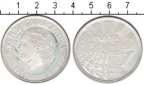 Изображение Монеты Аргентина 1 песо 2002 Серебро UNC- Мария Ева Дуарте де