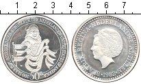 Монета Нидерланды 50 гульденов Серебро 1982 Proof- фото