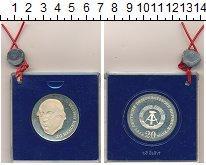 Изображение Монеты ГДР 20 марок 1978 Серебро Proof- 175 лет со дня смерт