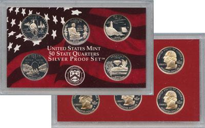 Изображение Подарочные наборы США Выпуск монет 2003 в качестве Пруф 2003 Серебро Proof