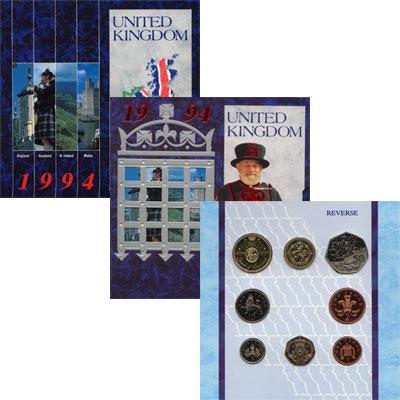 Изображение Подарочные монеты Великобритания Выпуск монет 1994 года 1994  UNC Выпуск монет 1994 го