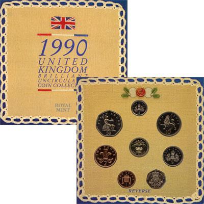 Изображение Подарочные наборы Великобритания Регулярный выпуск 1990 года 1990  UNC Подарочный набор Вел
