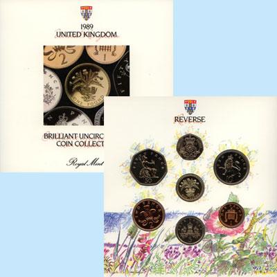 Изображение Подарочные наборы Великобритания Регулярный выпуск монет 1989 года 1989  UNC Подарочный набор Вел