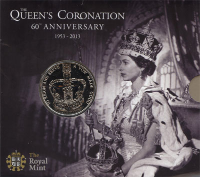 Изображение Подарочные наборы Великобритания 60-летие коронации Елизаветы II 2013 Медно-никель UNC