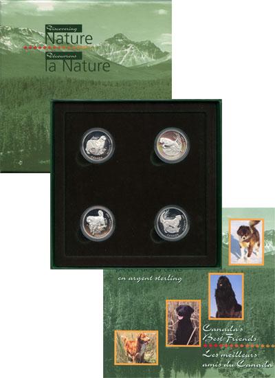 Изображение Подарочные монеты Канада Собака-друг человека 1997 Серебро Proof