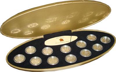 Изображение Подарочные монеты Канада Миллениум 1999 Серебро Proof Подарочный набор 199
