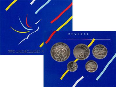 Изображение Подарочные монеты Новая Зеландия Выпуск 1990 года 1990 Медно-никель UNC Подарочный набор 199