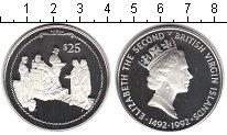 Изображение Монеты Виргинские острова 25 долларов 1992 Серебро Proof- Елизавета II.