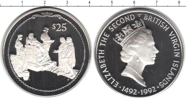 Картинка Монеты Виргинские острова 25 долларов Серебро 1992