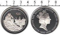 Изображение Монеты Виргинские острова 25 долларов 1992 Серебро Proof-