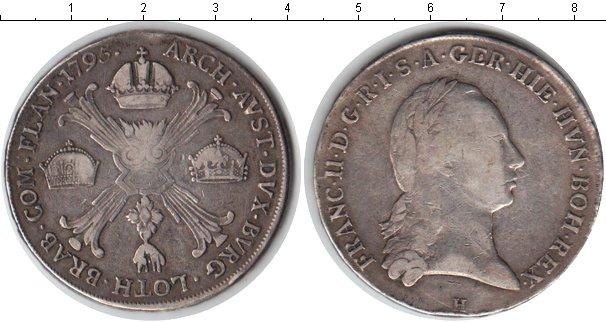 Картинка Монеты Австрия 1 талер Серебро 1796