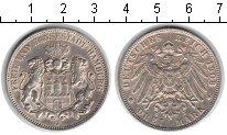Изображение Монеты Гамбург 3 марки 1908 Серебро VF