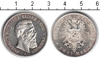 Изображение Монеты Пруссия 2 марки 1888 Серебро UNC- Фридрих