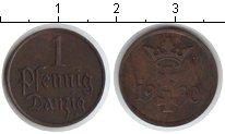Изображение Монеты Польша Данциг 1 пфенниг 1930 Медь XF