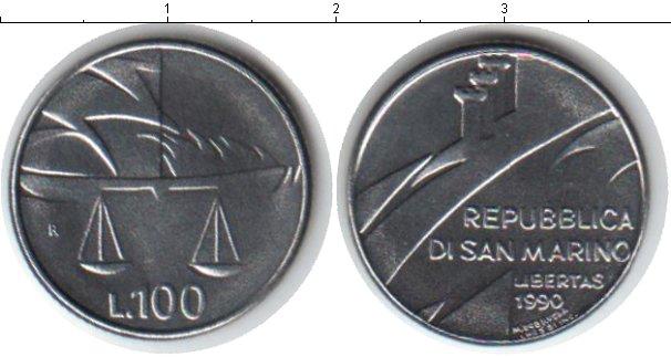 Картинка Монеты Сан-Марино 100 лир Медно-никель 1990