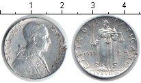 Изображение Монеты Ватикан 5 лир 1953 Алюминий VF Пий XII