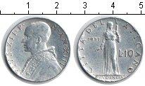 Изображение Монеты Ватикан 10 лир 1951 Алюминий XF Пий XII