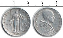 Изображение Монеты Ватикан 5 лир 1952 Алюминий XF Пий XII