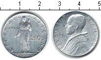 Изображение Монеты Ватикан 10 лир 1953 Алюминий XF Пий XII