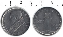 Изображение Монеты Ватикан 100 лир 1956 Железо XF Пий XII