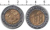 Изображение Монеты Сан-Марино 500 лир 1992 Биметалл XF 500-летие открытия А