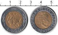 Изображение Монеты Сан-Марино 500 лир 1994 Биметалл XF Каменотёс