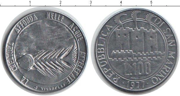 Картинка Монеты Сан-Марино 100 лир Железо 1977