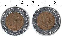 Изображение Монеты Сан-Марино 500 лир 1993 Биметалл XF Ростки новой жизни