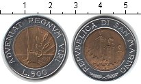 Изображение Монеты Сан-Марино 500 лир 1993 Биметалл XF