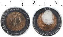Изображение Монеты Сан-Марино 500 лир 1982 Биметалл XF