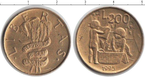 Картинка Монеты Сан-Марино 200 лир  1995