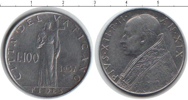 Картинка Монеты Ватикан 100 лир Железо 1957